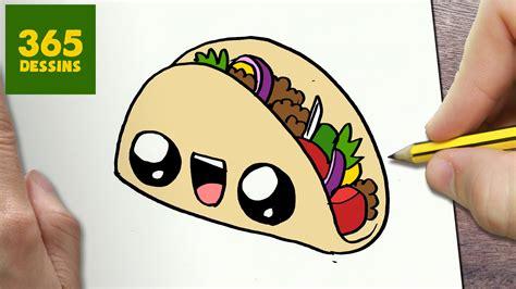 imagenes de tacos kawaii comment dessiner taco kawaii 201 tape par 201 tape dessins