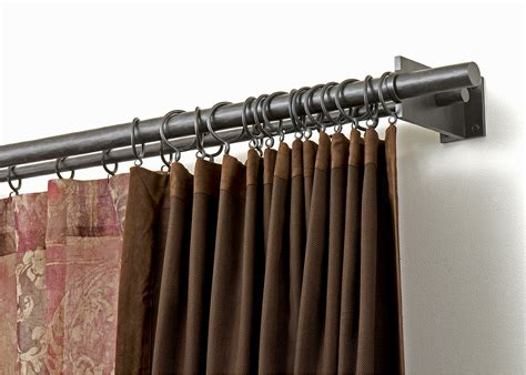 how to make double curtain rods heavy duty double curtain rod brackets curtain