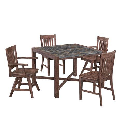safavieh arvin teak 5 patio dining set pat7001a