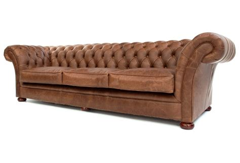 the scholar vintage leather chesterfield sofa bed from
