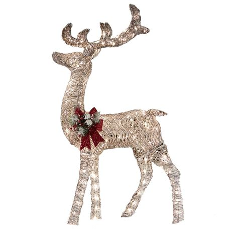 Outdoor Lighted Reindeer Decoration living 52 in lighted vine reindeer outdoor