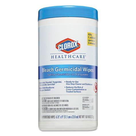 bleach germicidal wipes  clorox healthcare cloct ontimesuppliescom