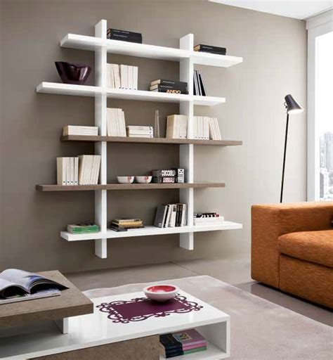 mensole da salotto libreria mensole a parete lucida moderna design salotto