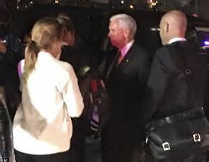 mike pence annoys new yorkers after tweeting his dinner at mike pence s caign plane slides off the runway at