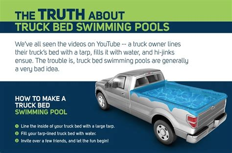 truck bed pool no swimming why turning your truck bed into a pool is a