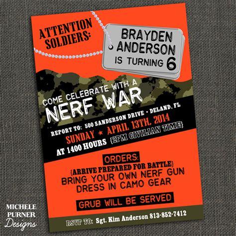 free printable birthday invitations nerf nerf party invitations google search nerf party ideas