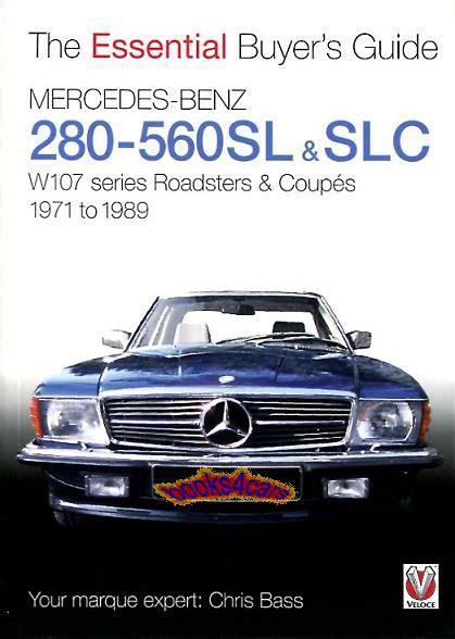 mercedes 560sl manual ebay mercedes buyers guide book 560sl 280sl essential 450sl 107 manual tips handbook ebay