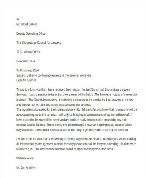 Acceptance Letter For Seminar 56 acceptance letters