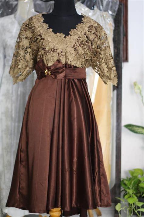 Model Baju Dress Brokat Modern   model baju dress brokat