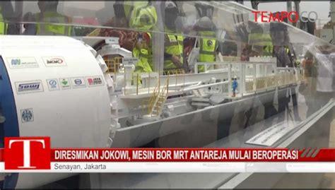 Mesin Bor Antareja jokowi masuk lubang pengeboran mrt selama 15 menit