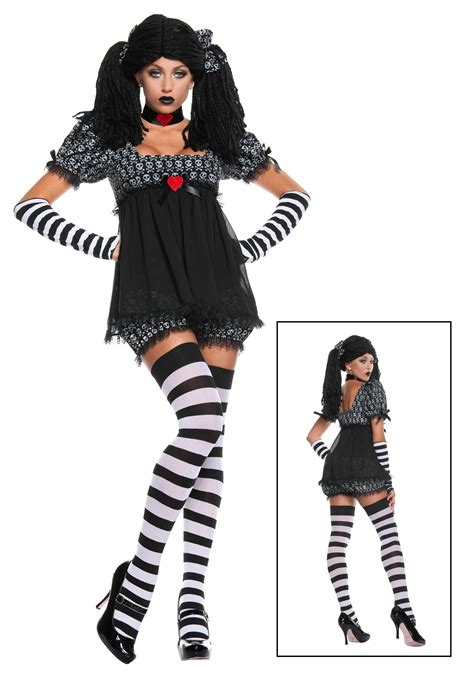 gothic costumes adult sexy gothic halloween costume exclusive sexy gothic rag doll costume
