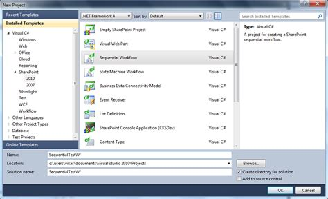 create a sharepoint workflow sharepoint shell creating a sharepoint sequential visual