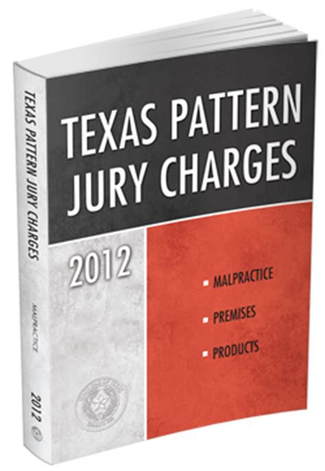 how to cite pattern jury instructions texas pattern jury charges malpractice premises