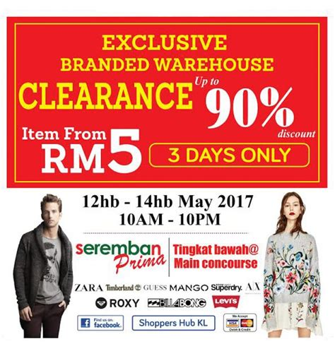 Sale Tas Wanita Exclusive 201 shoppers hub exclusive branded warehouse sale loopme malaysia