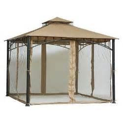 12 Patio Umbrella Hard Top Gazebo 10 X10 Sumatra With Mosquito Netting