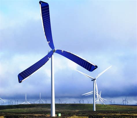 solar powered wind turbine with a new set of spinning
