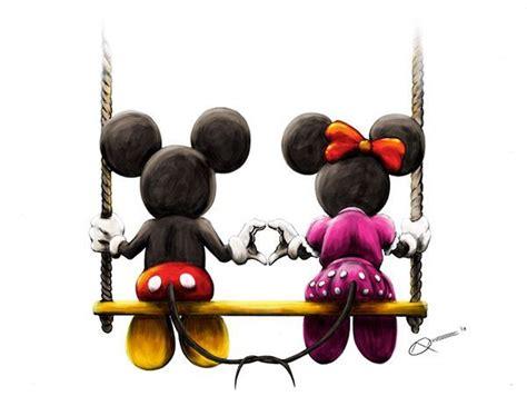 mickey mouse swing behance net disney art mickey minnie on a swing