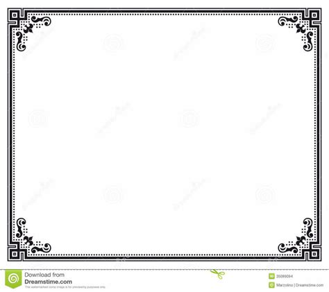 design of certificate frame home design certificate border letter sized stock images