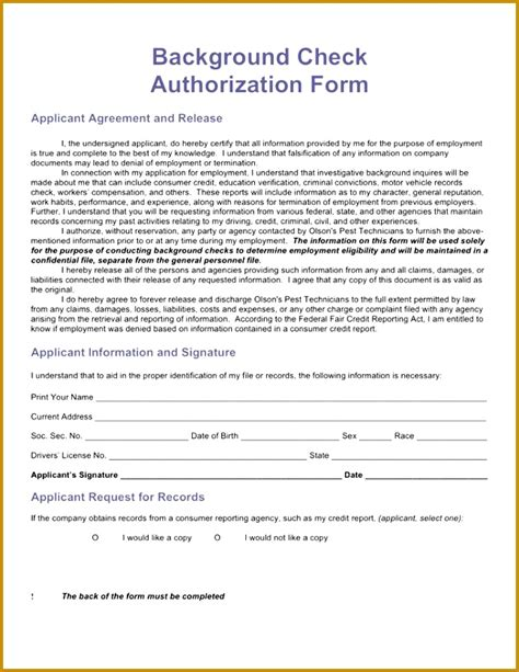 credit report authorization form template 7 credit report authorization form template fabtemplatez