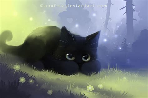 themes in black cat apofiss deviantart