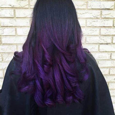 black n purple hair the gallery for gt black with purple the gallery for gt dark brown purple tint hair color