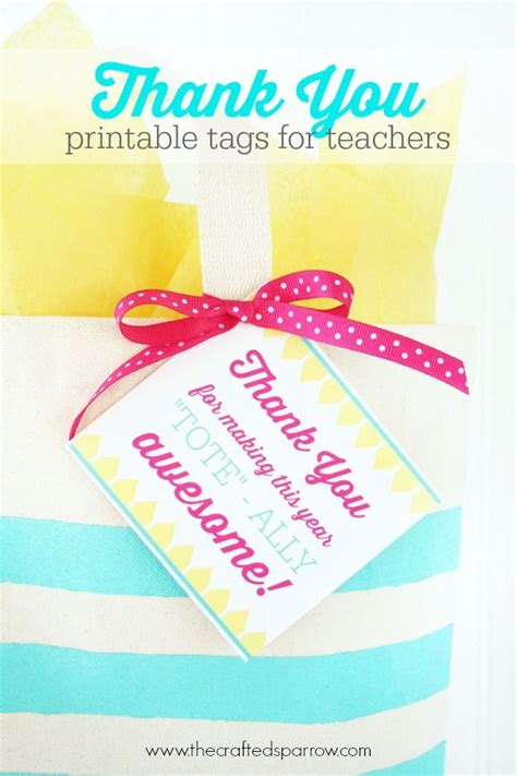 printable thank you tags for gift bags printable teacher thank you tags best teacher gift card