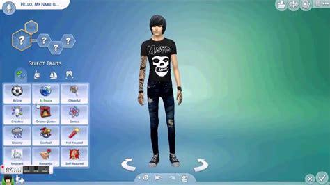 emo boy sims 4 emo vs scene male version the sims 4 cas youtube