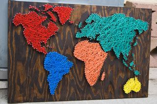 nail wall art world map primary pleasures palette