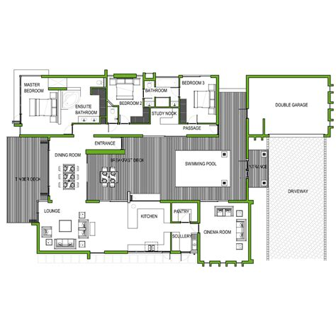 modern 3 bedroom house floor plans modern 3 bedroom house plans no garage modern house