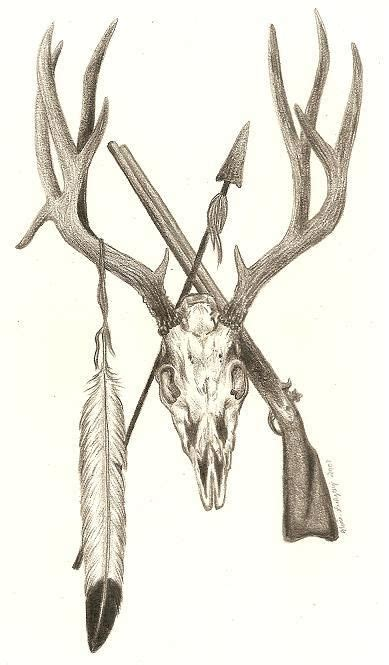 deer skull tattoo pics mule deer skull design in