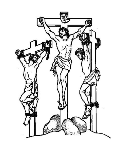 jesus died on cross coloring page jesus cross coloring 예수님 십자가 색칠공부 자료