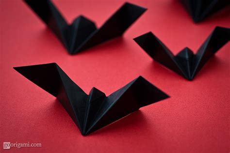Easy Origami Bat - deck the s diy origami bats in the belfry