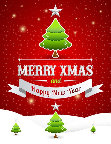 merry christmas happy  year poster template   behance
