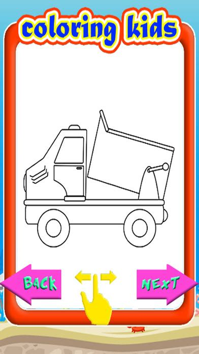 coloring book free android coloring book pages dump truck version app