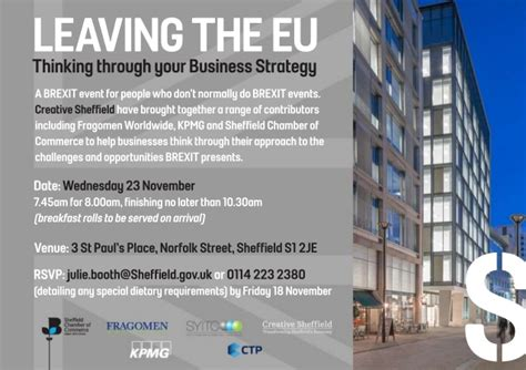 Standford Mba Invitations by Brexit Event Invitation 23 November 2016