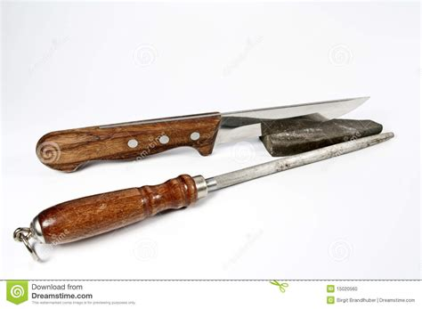 Sharpening Stone For Kitchen Knives by Kitchen Knife And Stone For Sharpening Stock Photo Image