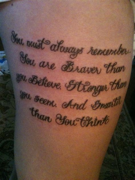 winnie the pooh quote tattoos my winnie the pooh quote s