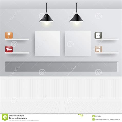 modern home design vector vector interior design with home furniture icons stock