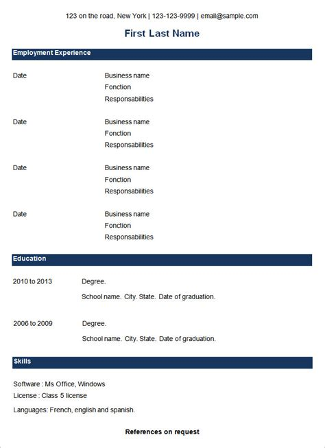 cv format download simple basic resume template 53 free sles exles format