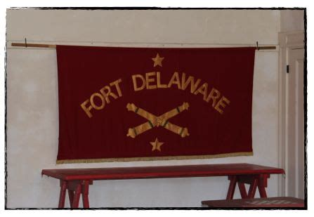 {50 states} fort delaware on pea patch island half a