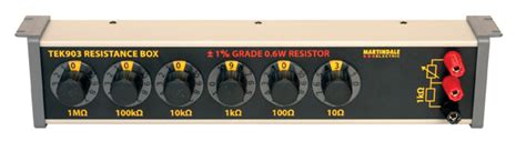 resistor box co to jest martindale tek903 decade resistance box