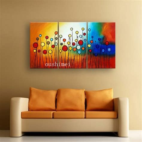 hand painted home decor hand painted circle colorful flowers abstract landscape