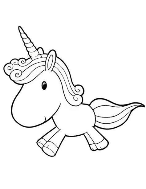 coloring pages of cute baby unicorns cute baby unicorn running free coloring page for