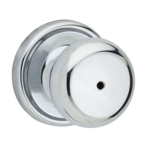 Kwikset Hancock Polished Chrome Bed Bath Knob 730h 26 Rcal Chrome Bathroom Door Knobs