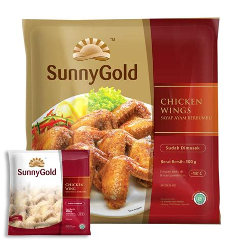 jual gold chicken spicy wing 500g harga murah