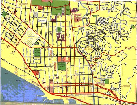 map of port of spain streets port of spain map give page time to load map is big
