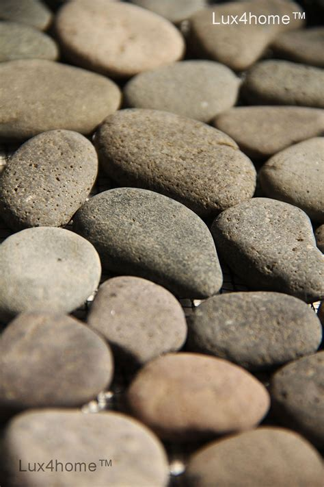 brown pebble tile bali black grey lux4homecom