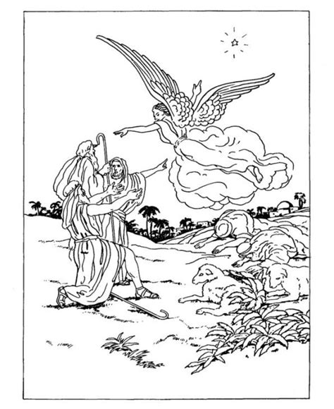 coloring pages of the shepherds and the angels kids n fun com 14 coloring pages of christmas traditional