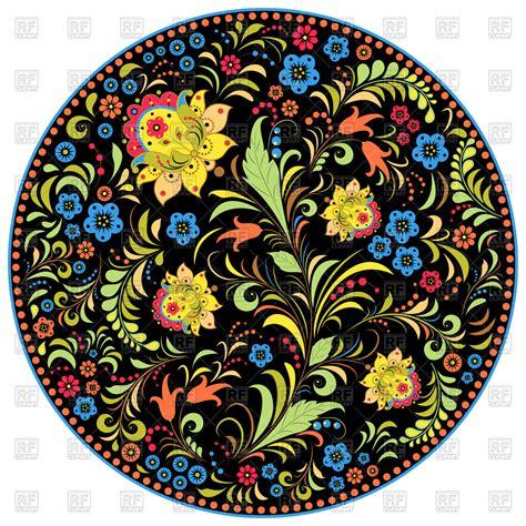 russian pattern art floral traditional russian pattern khokhloma royalty free