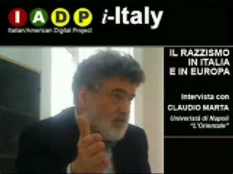 il razzismo in europa claudio marta il razzismo in italia e in europa youtube
